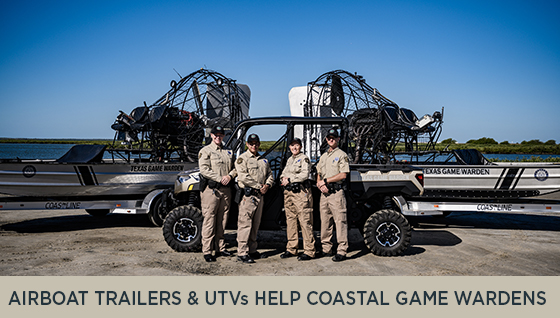 Airboat Trailers and UTVs Help Coastal Game Wardens