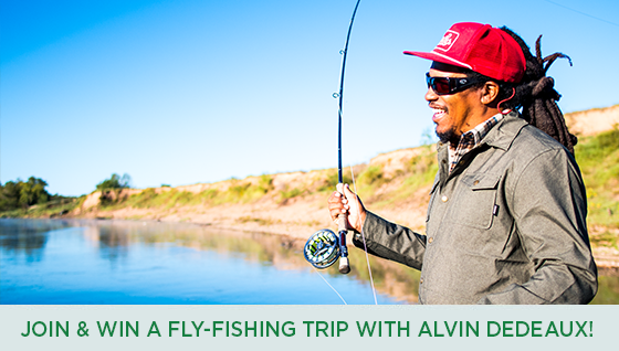 Story #3: Join and Win a Fly-Fishing Trip with Alvin Dedeaux!