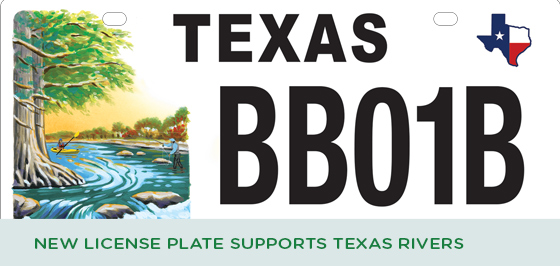 New License Plate Supports Texas River Conservation
