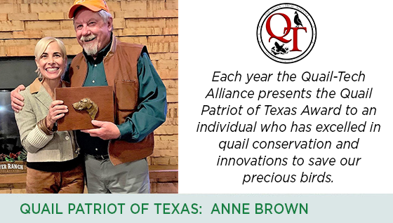 Story #4: Quail Patriot of Texas: Anne Brown width=