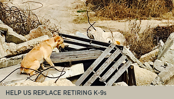 Help us Replace Retiring K-9s