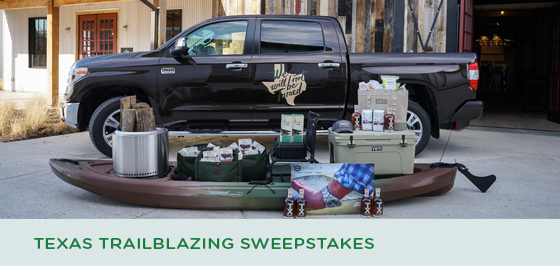 Story #1: Texas Trailblazing Sweepstakes