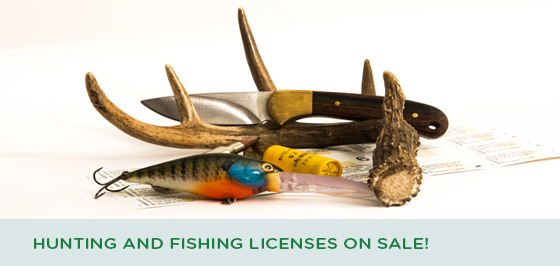 Story #4: Hunting and Fishing Licenses on Sale