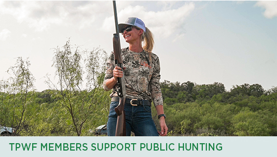 Story #2: TPWF Members Support Public Hunting