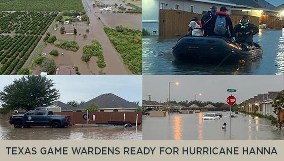 Texas Game Wardens Ready for Hurricane Hanna