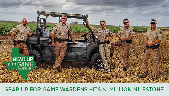 Story #3: Gear Up for Game Wardens Hits $1 Million Milestone