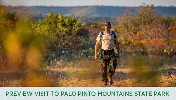 Story #6: Preview Visit to Palo Pinto Mountains State Park with Dan Oko