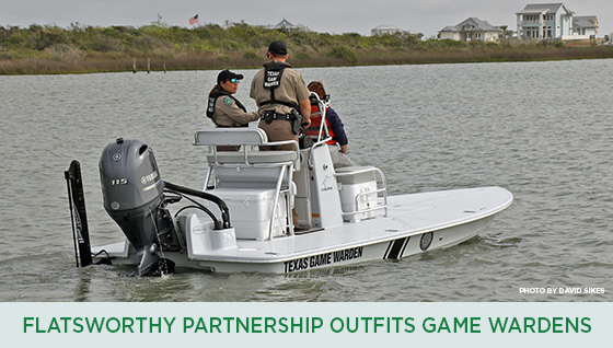 Story #6: FlatsWorthy Partnership Outfits Texas Game Wardens with Patrol Skiff