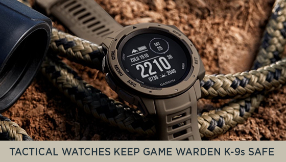 Tactical Watches Keep Game Warden K-9s Safe