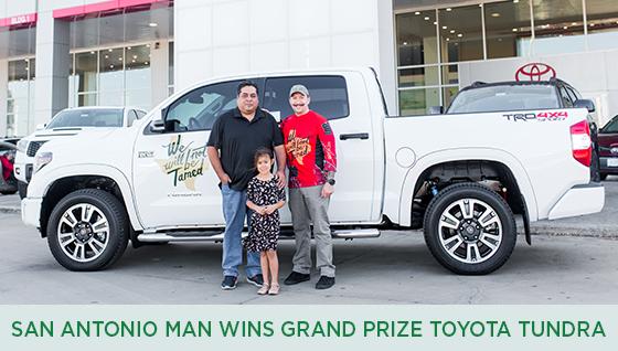 Story #2: San Antonio Man Wins Grand Prize Toyota Tundra