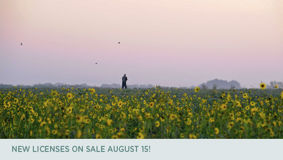 New licenses on sale August 15!